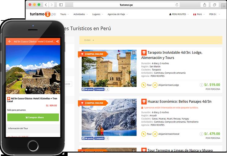 UX desarrollado específicamente para el segmento de tours y actividades en web y móvil.