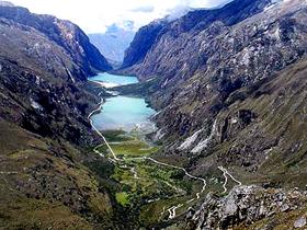 Quebrada Santa Cruz Llanganuco