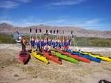 inicio del tour bahía del titicaca en Kayaking en el Lago más Alto del Mundo: Titicaca