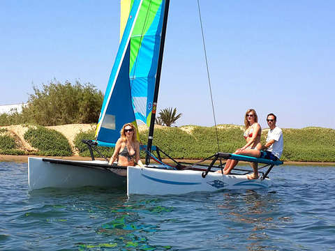 Sail on the Hobiecat Catamaran along the Paracas Bay