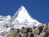 Nevado Alpamayo is the most beautiful mountain in the world. en 10d/9n Trekking Cedros Alpamayo