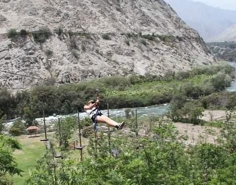 Canopy en el Valle de Lunahuaná - Ruta Corta