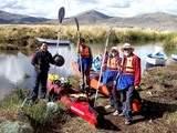 Foto de Kayak en las Islas Flotantes de los Uros