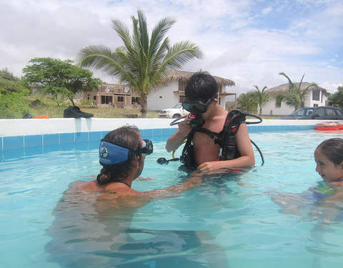 Diving for Children in Swimming Pool