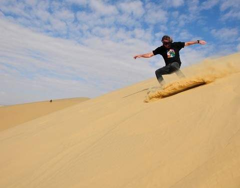 "Sandboarding in the Highest Dunes in the World ""Cerro Blanco"""