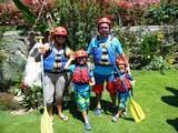 Familia Disfrutando en Canotaje Lunahuaná