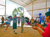 Baile típico tirolés en Oxapampa