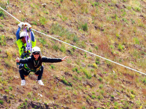 Zipline in Sacred Valley