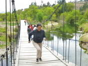Puente colgante.