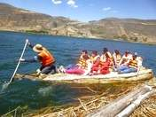 Totora boat ride. Get up and enjoy !!