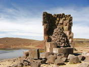 Chullpa of the lizard - Sillustani