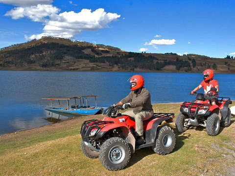 ATVs by Salineras and Laguna de Huaypo