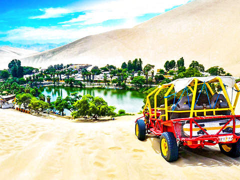 Tubular and Sandboard in the Desert of Huacachina