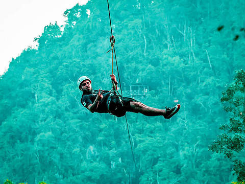 Extreme Zipline in the middle of the jungle (April-June)