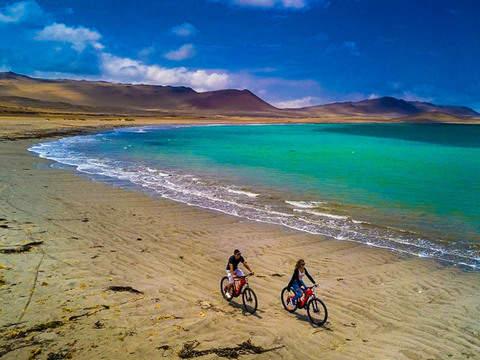 E-bikes at Paracas National Reserve