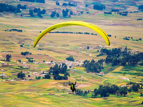 Paragliding in the Sacred Valley of the Incas