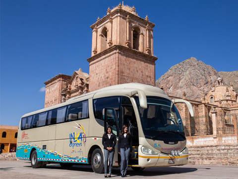 Ruta del Sol desde Cusco a Puno en Bus