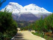 Vista de Huascaran desde Campo Santo Yungay